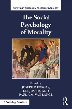 The Social Psychology of Morality book cover