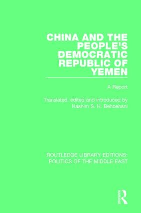 China and the People's Democratic Republic of Yemen