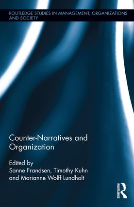 Counter-Narratives and Organization: 1st Edition (Hardback) book cover