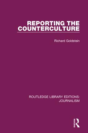 Reporting the Counterculture book cover