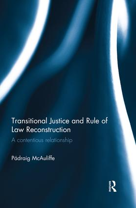 Transitional Justice and Rule of Law Reconstruction: A Contentious Relationship, 1st Edition (Paperback) book cover