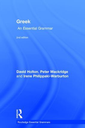 Greek: An Essential Grammar book cover