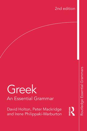 Greek: An Essential Grammar book cover