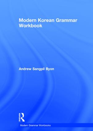 Modern Korean Grammar Workbook book cover