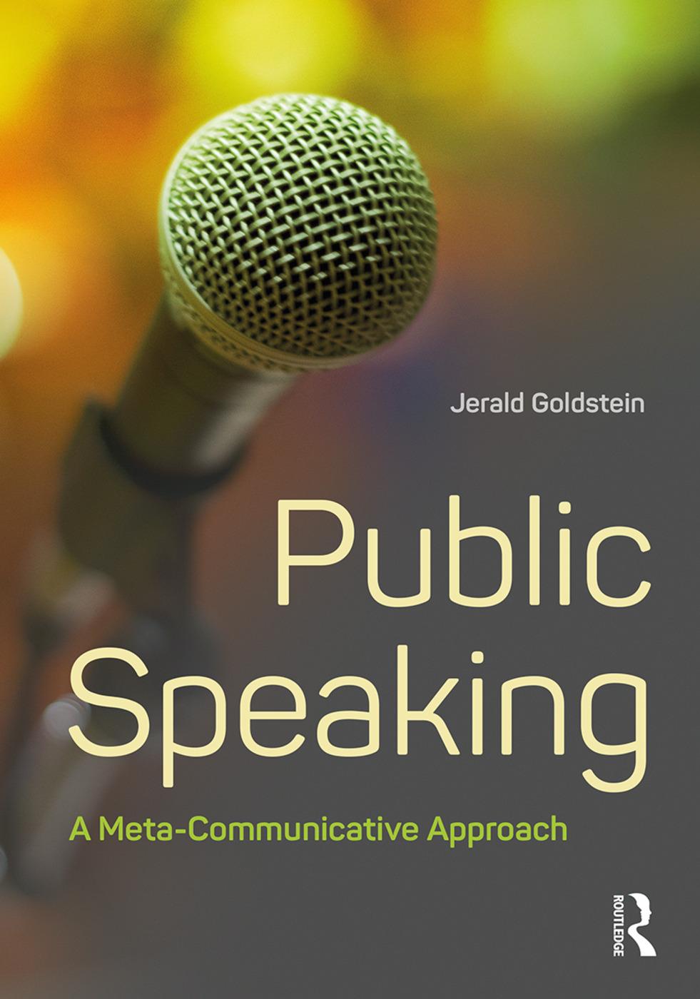 Public Speaking: A Meta-Communicative Approach book cover