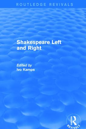 Shakespeare Left and Right: 1st Edition (Hardback) book cover