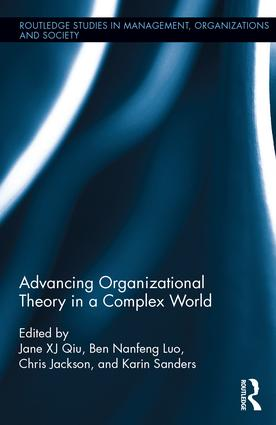 Advancing Organizational Theory in a Complex World book cover