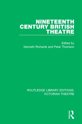 Nineteenth Century British Theatre book cover