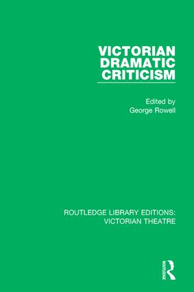 Victorian Dramatic Criticism book cover