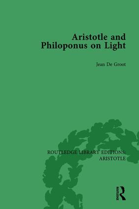 Aristotle and Philoponus on Light