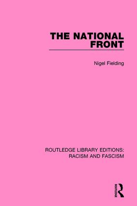 The National Front: 1st Edition (Paperback) book cover