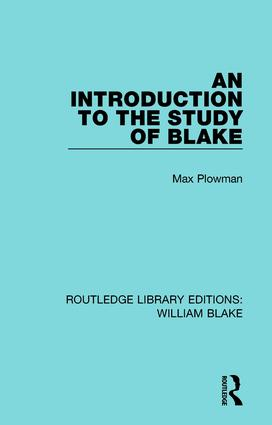 An Introduction to the Study of Blake book cover