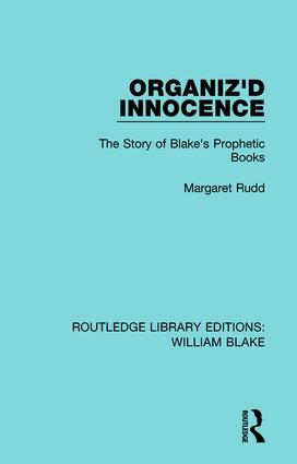 Organiz'd Innocence: The Story of Blake's Prophetic Books book cover