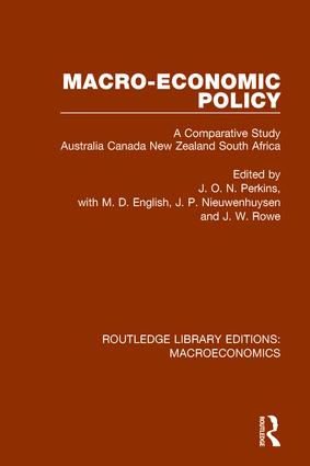 Macro-economic Policy: A Comparative Study Australia, Canada, New Zealand and South Africa book cover