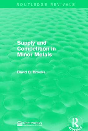 Supply and Competition in Minor Metals book cover