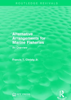Alternative Arrangements for Marine Fisheries: An Overview book cover