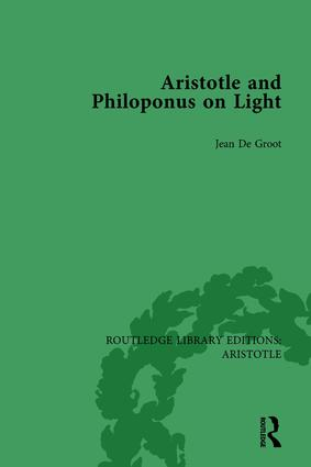 Aristotle and Philoponus on Light book cover