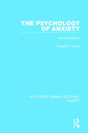 The Psychology of Anxiety: Second Edition, 1st Edition (Paperback) book cover