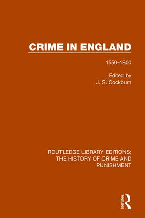 Crime in England: 1550-1800 book cover