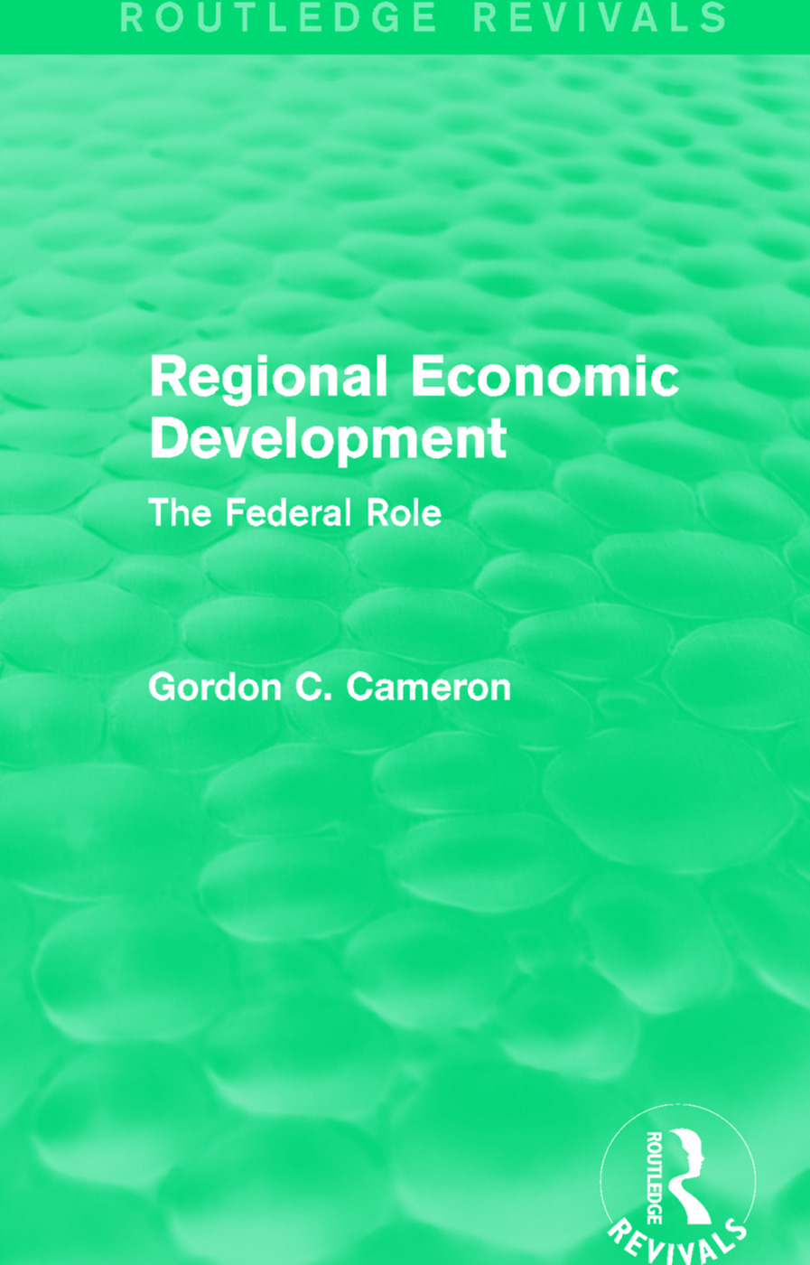 Regional Economic Development: The Federal Role book cover