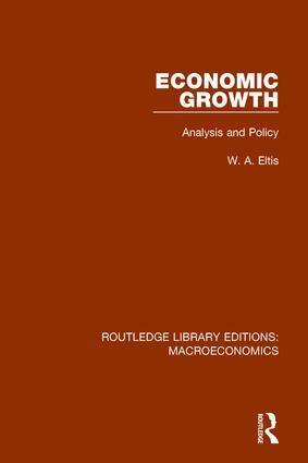 Economic Growth: Analysis and Policy, 1st Edition (Paperback) book cover