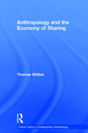 Anthropology and the Economy of Sharing: 1st Edition (Hardback) book cover