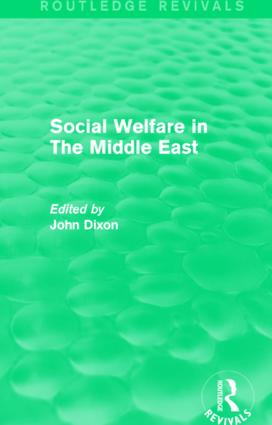 Social Welfare in The Middle East: 1st Edition (Hardback) book cover