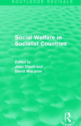 Social Welfare in Socialist Countries: 1st Edition (Paperback) book cover