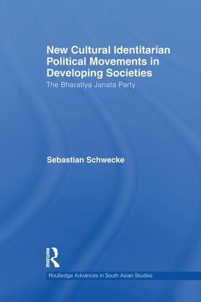 New Cultural Identitarian Political Movements in Developing Societies: The Bharatiya Janata Party book cover