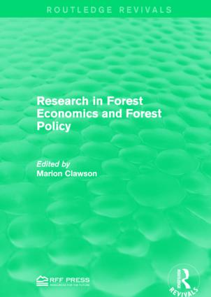 Research in Forest Economics and Forest Policy: 1st Edition (Paperback) book cover