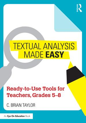 Textual Analysis Made Easy: Ready-to-Use Tools for Teachers, Grades 5-8 book cover
