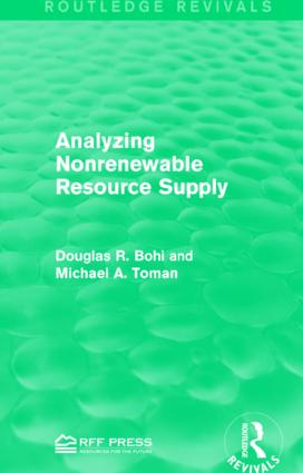 Analyzing Nonrenewable Resource Supply: 1st Edition (Paperback) book cover