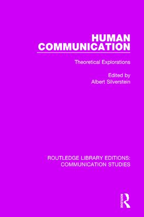 Human Communication: Theoretical Explorations, 1st Edition (Hardback) book cover