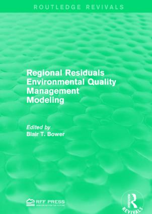 Regional Residuals Environmental Quality Management Modeling: 1st Edition (Paperback) book cover