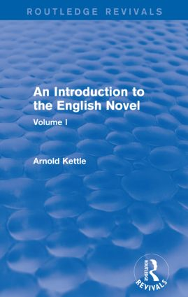 An Introduction to the English Novel: Volume I, 1st Edition (Paperback) book cover