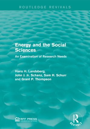 Energy and the Social Sciences: An Examination of Research Needs book cover