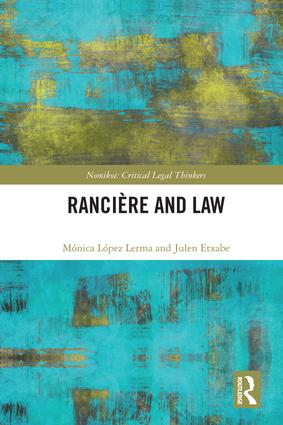 Ranciere and Law book cover