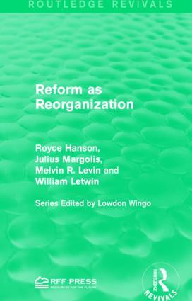 Reform as Reorganization book cover