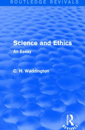 Science and Ethics: An Essay book cover