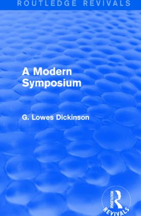 A Modern Symposium: 1st Edition (Paperback) book cover