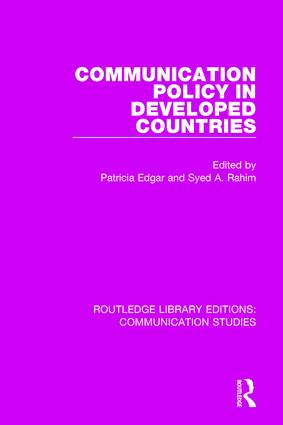 Communication Policy in Developed Countries book cover