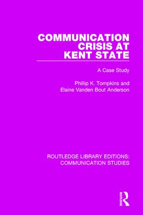 Communication Crisis at Kent State: A Case Study book cover