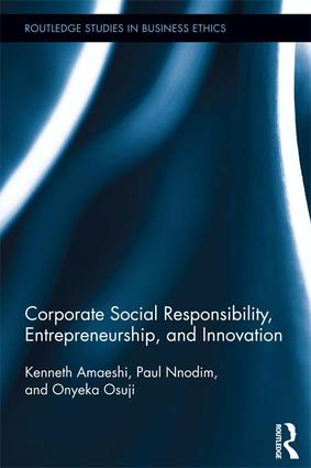 Corporate Social Responsibility, Entrepreneurship, and Innovation: 1st Edition (Paperback) book cover