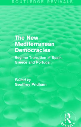 The New Mediterranean Democracies: Regime Transition in Spain, Greece and Portugal, 1st Edition (Paperback) book cover