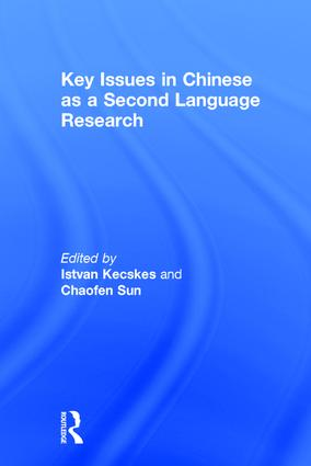 Key Issues in Chinese as a Second Language Research book cover