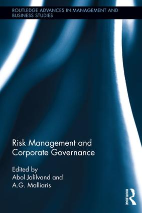 Risk Management and Corporate Governance: 1st Edition (Paperback) book cover