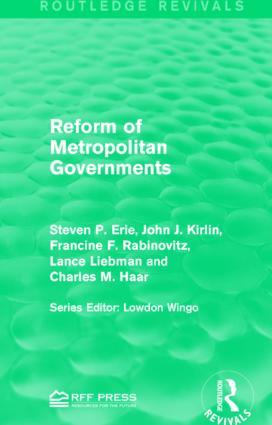 Reform of Metropolitan Governments: 1st Edition (Hardback) book cover