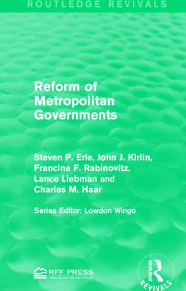 Reform of Metropolitan Governments: 1st Edition (Paperback) book cover