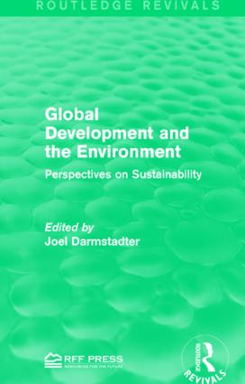 Global Development and the Environment: Perspectives on Sustainability book cover