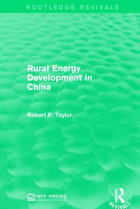Rural Energy Development in China: 1st Edition (Hardback) book cover